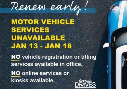 Renew Early Georgia DRIVES Notice