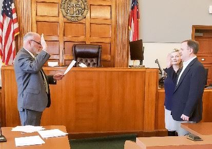 John Daniell Sworn In by Judge Eric Norris