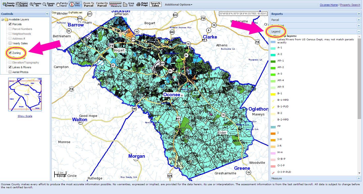 Zoning Map Oconee County GA - Map ga