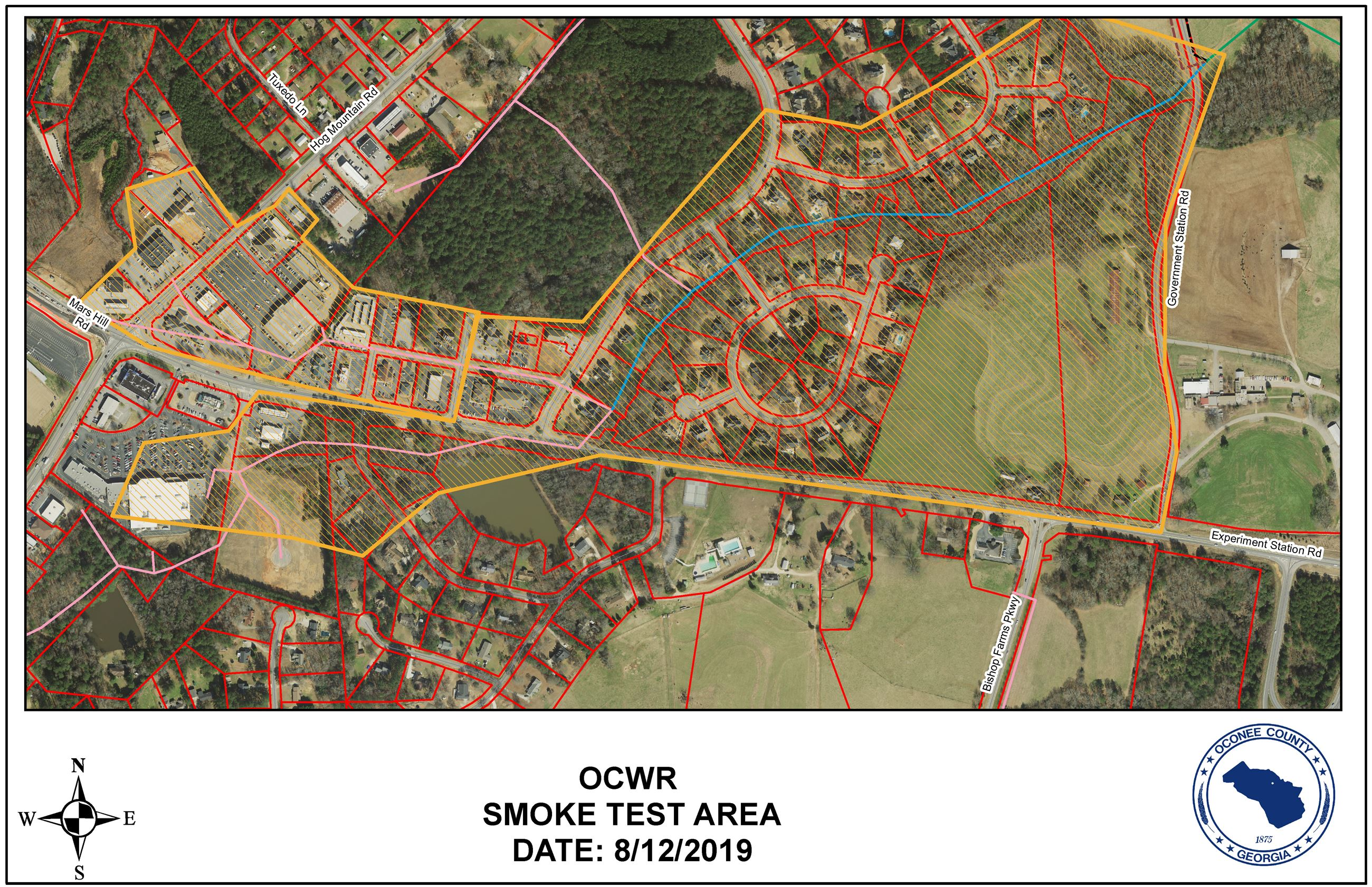 Smoke Test Area Map Aerial View 8-12-2019  Opens in new window