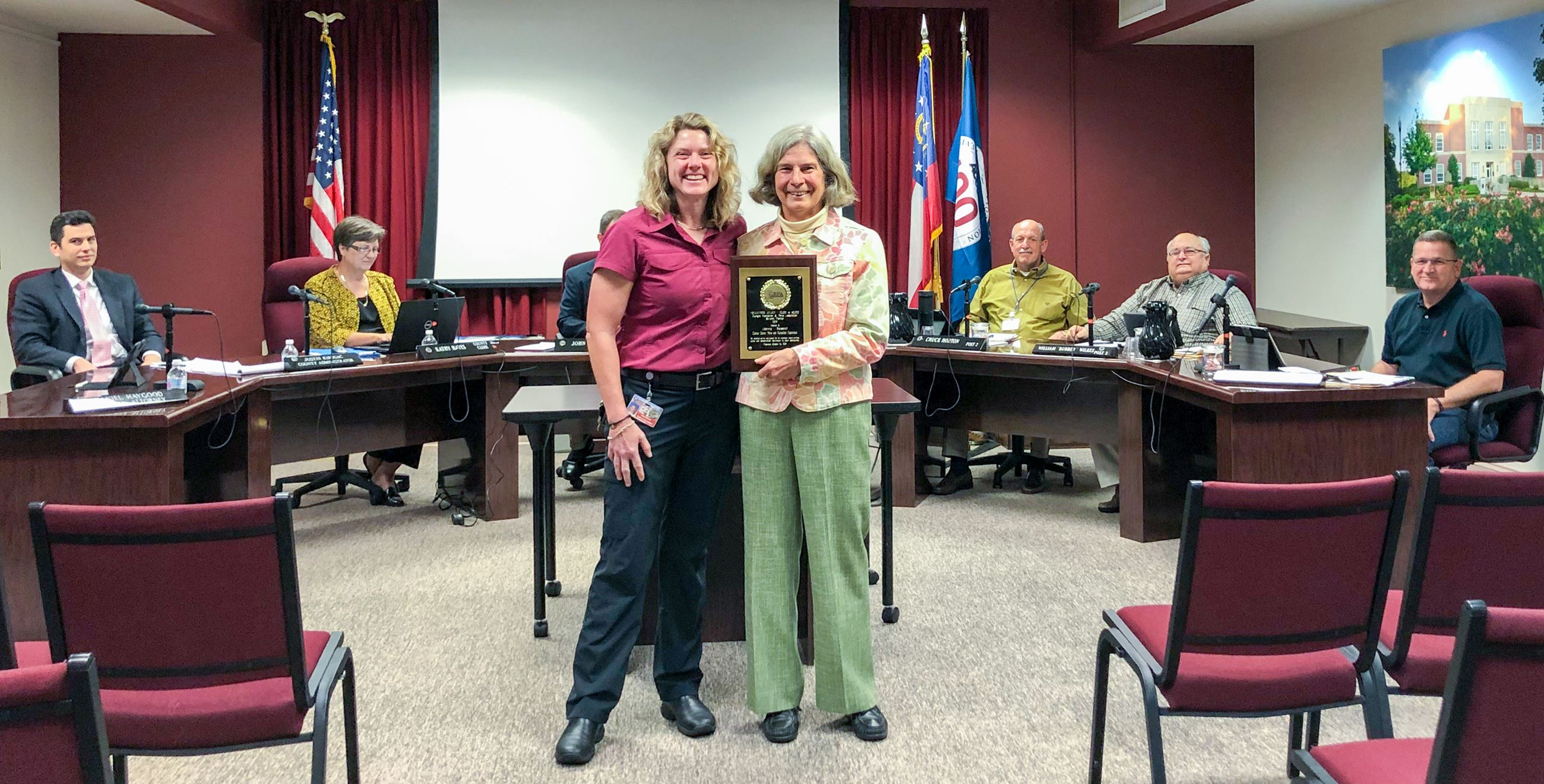 OCPRD Parks Volunteer of the Year Receives Award from Parks & Recreation Director